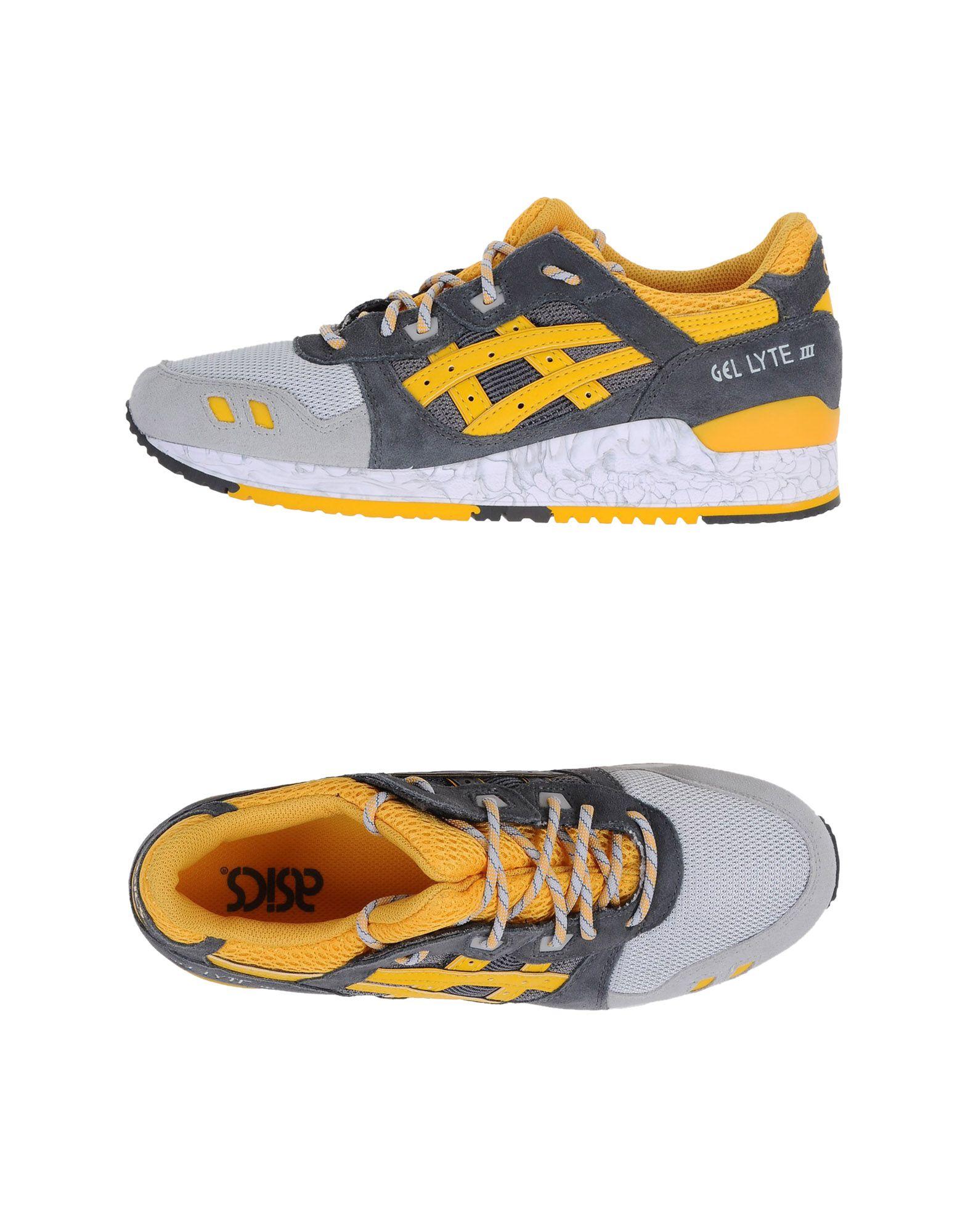ASICS TIGER Herren Low Sneakers & Tennisschuhe Farbe Grau Größe 15