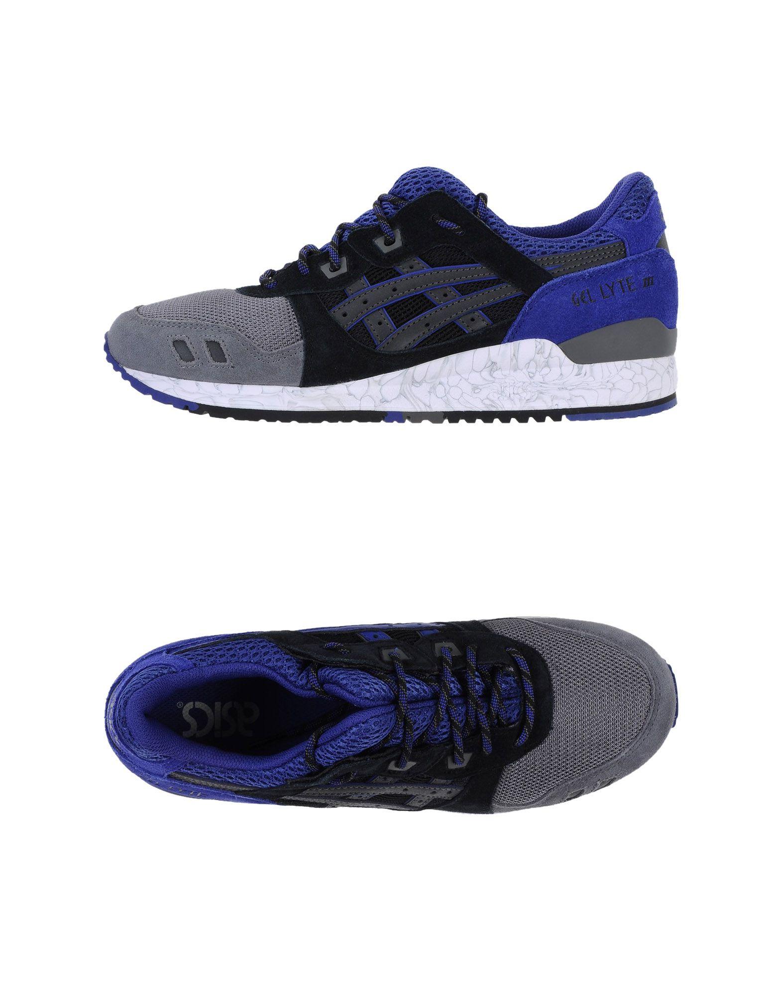 ASICS TIGER Herren Low Sneakers & Tennisschuhe Farbe Grau Größe 12