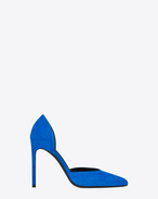 Klassische PARIS 105 d'Orsay PUMPS AUS Veloursleder in Electric Blue