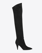 CAT BOOT 90 Over-the-knee Boot IN BLACK Suede