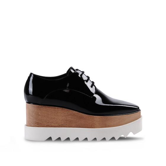 chaussures elyse noires vernies stella mccartney. Black Bedroom Furniture Sets. Home Design Ideas