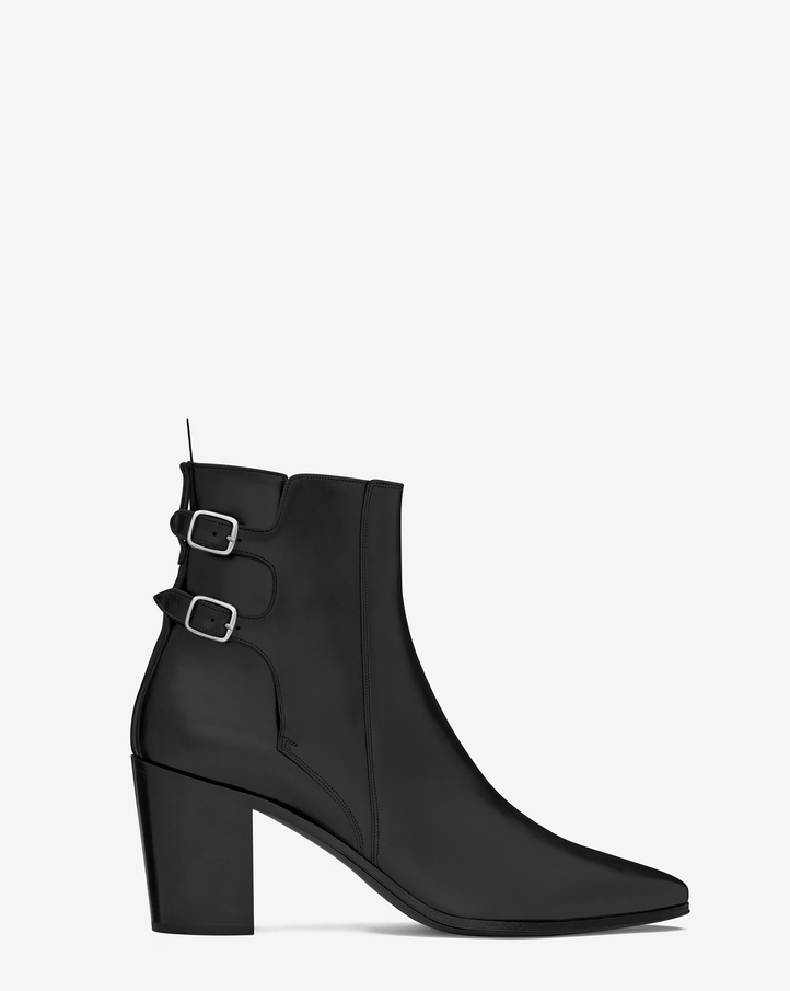 ysl bags sale uk - Saint Laurent FRENCH 85 Double Buckle ANKLE BOOT IN BLACK LEATHER ...