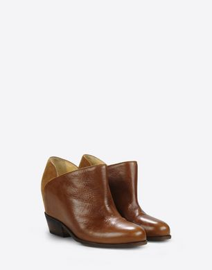 Ankle boots with hidden wedge heel