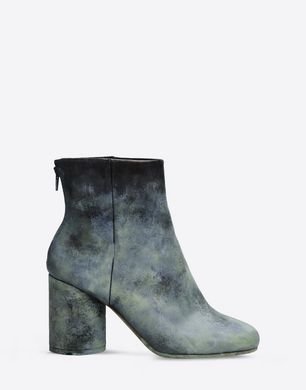 Oxidized calfskin ankle boots