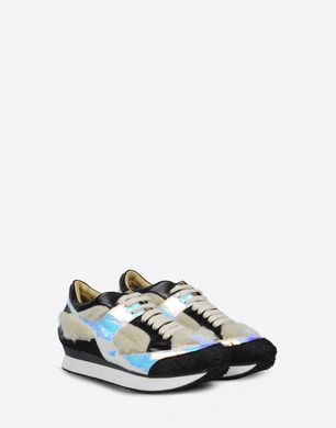 Mixed material trainers