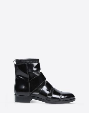 Cut out ankle boots with sock detail