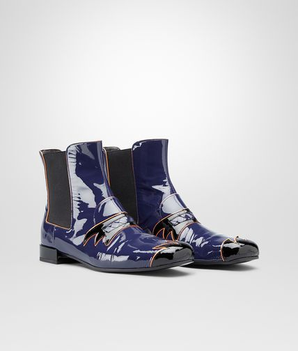 MULTICOLOR PATENT CALF ANKLE BOOT