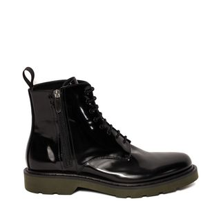 ALEXANDER MCQUEEN, Boots, Black Zip Lace Up Boot