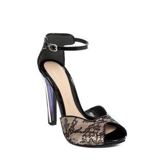 ALEXANDER MCQUEEN, Sandals, Plexi Heel Lace Sandal
