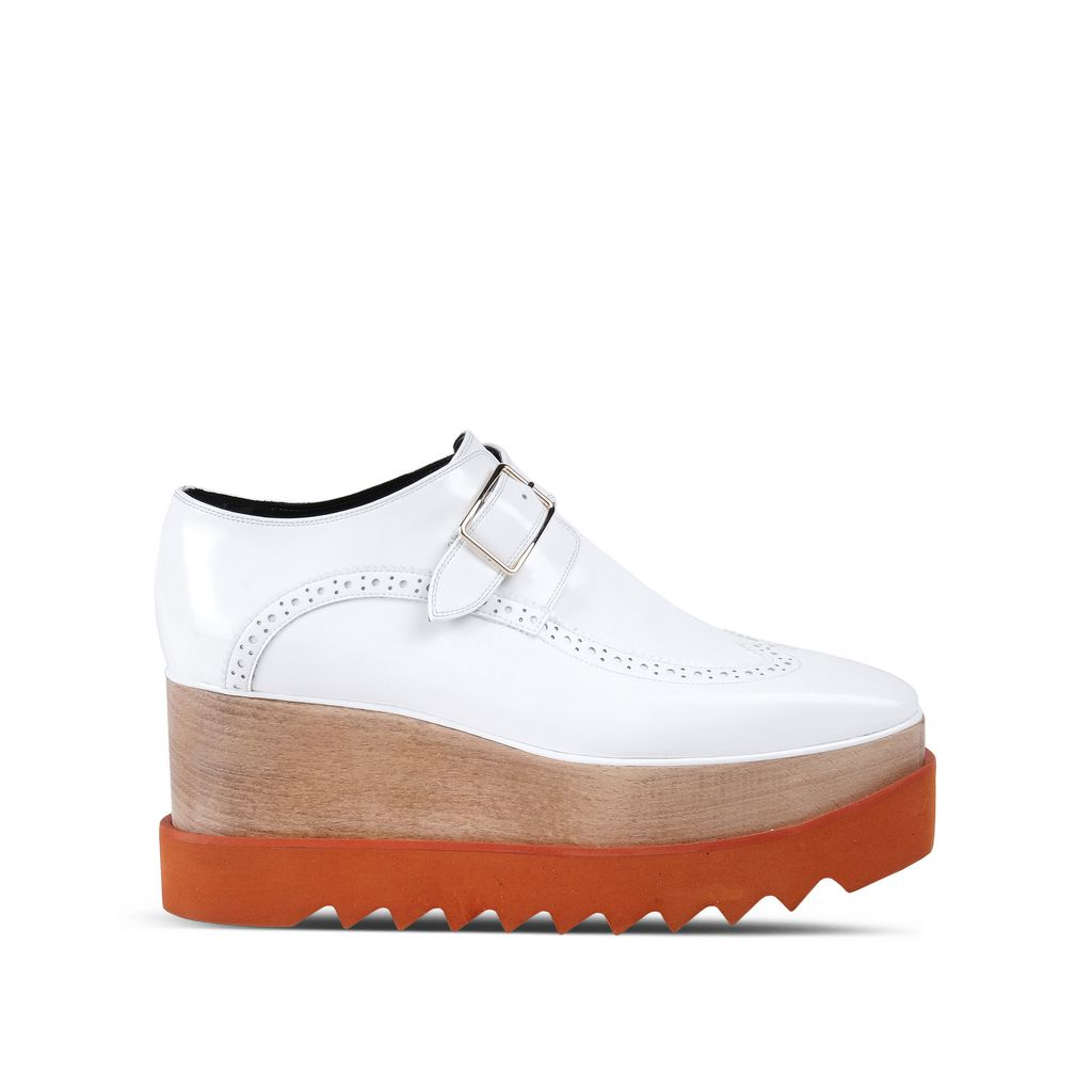 White Brogue Elyse Shoes