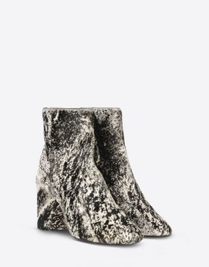 Cowhide ankle boots