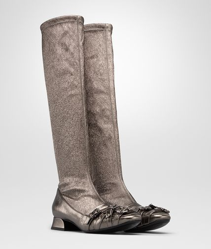ARGENTO ANTIQUE METALLIC CALF STRETCH BOOT