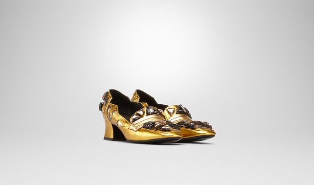 ORO ANTICO E ARGENTO ANTIQUE METALLIC CALF PUMP