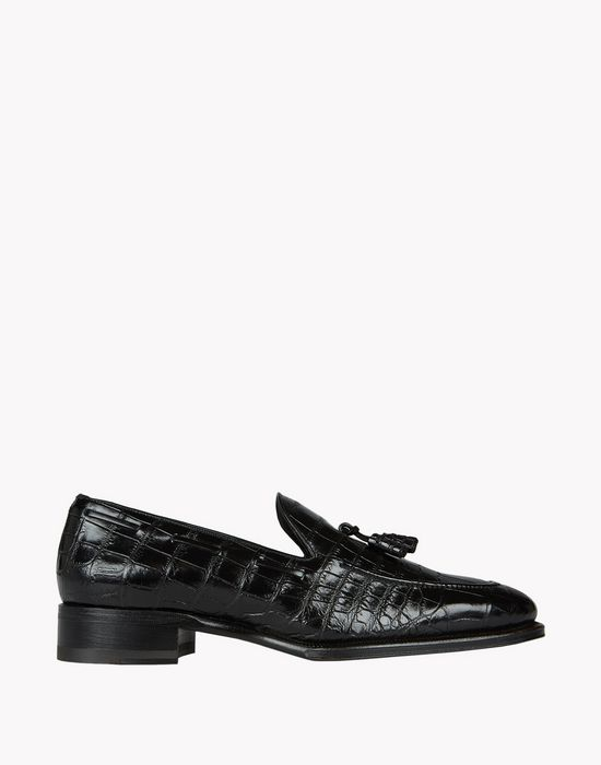 ubaldo croc tassel loafers shoes Man Dsquared2