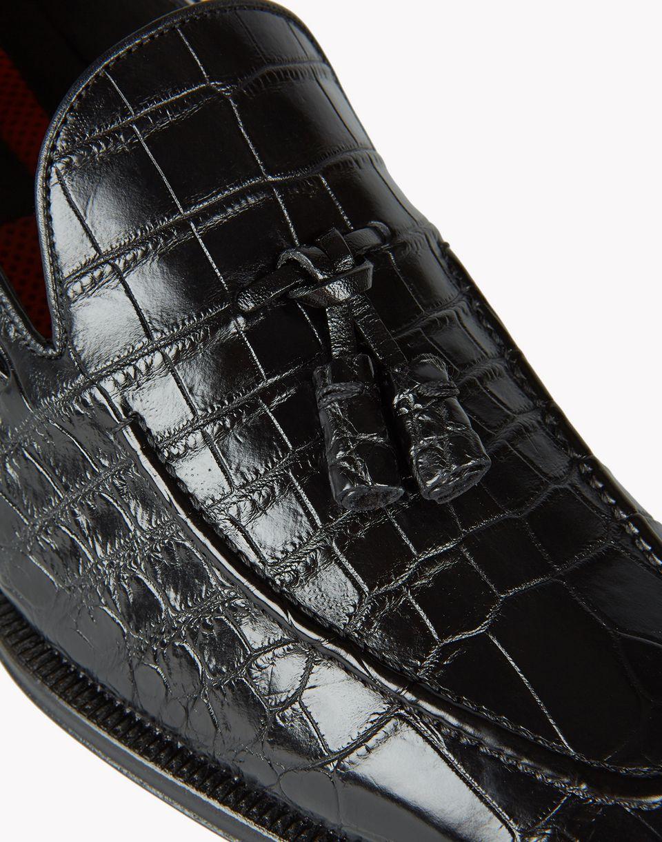 ubaldo croc tassel loafers shoes Man Dsquared2