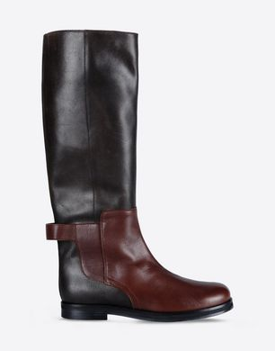 Tall mixed leather boots