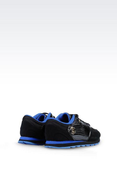 SNEAKER IN REPTILE PRINT LEATHER: Sneakers Women by Armani - 3