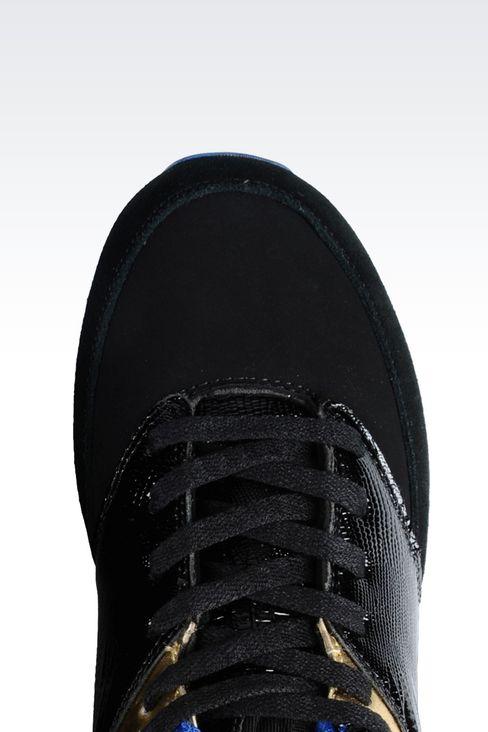 SNEAKER IN REPTILE PRINT LEATHER: Sneakers Women by Armani - 4