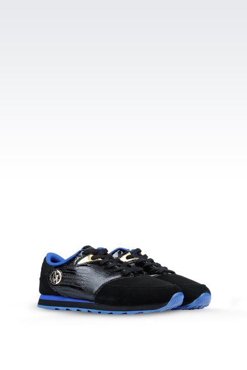 SNEAKER IN REPTILE PRINT LEATHER: Sneakers Women by Armani - 2
