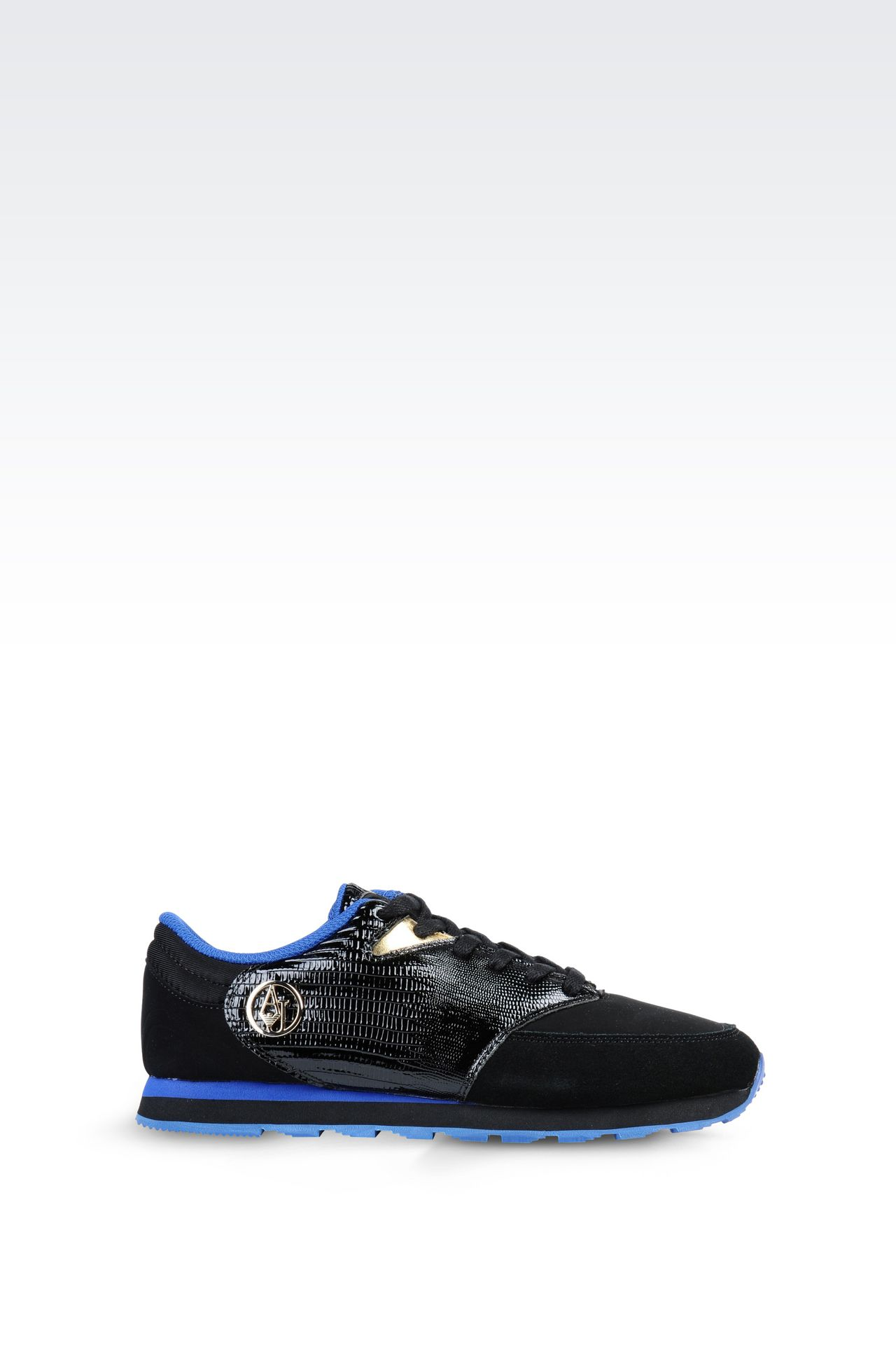 SNEAKER IN REPTILE PRINT LEATHER: Sneakers Women by Armani - 0