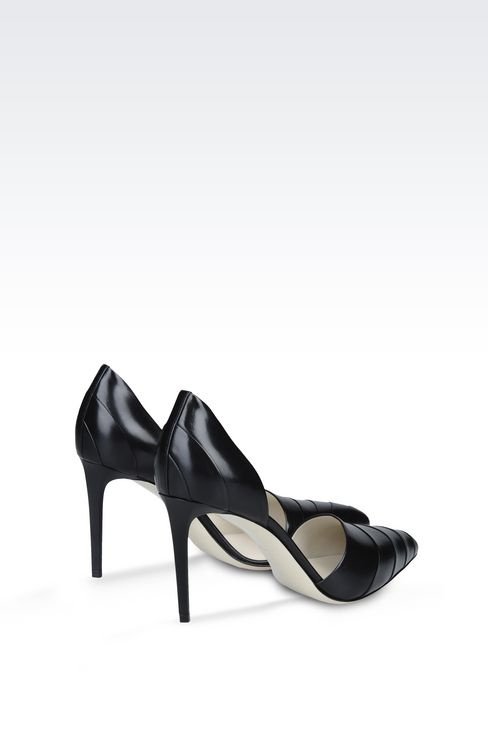 LEATHER COURT SHOE: Heeled pumps Women by Armani - 3