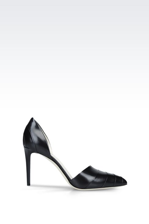 LEATHER COURT SHOE: Heeled pumps Women by Armani - 1
