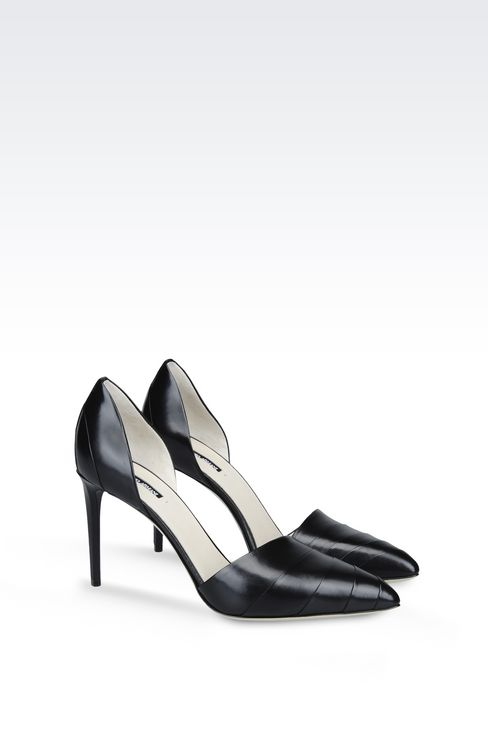 LEATHER COURT SHOE: Heeled pumps Women by Armani - 2