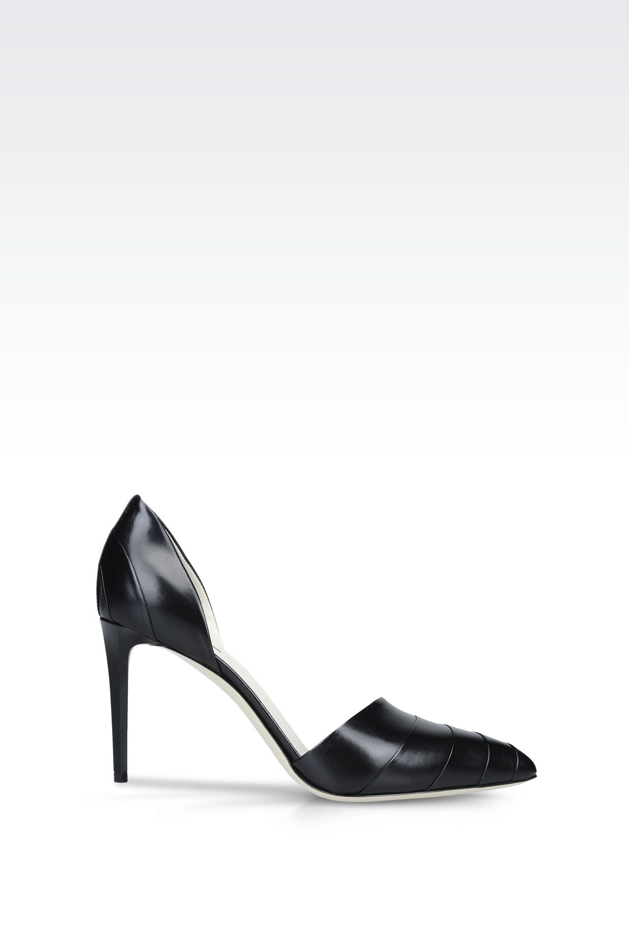 LEATHER COURT SHOE: Heeled pumps Women by Armani - 0
