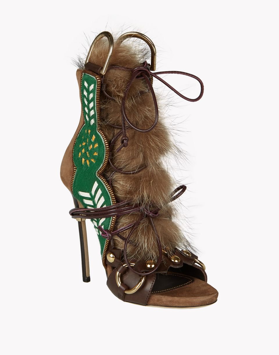 eskimo fur sandals shoes Woman Dsquared2