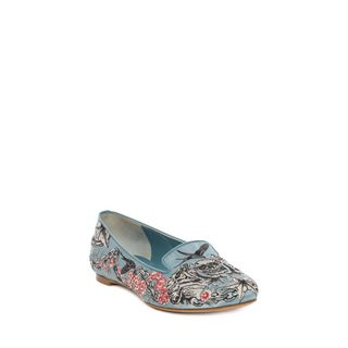 ALEXANDER MCQUEEN, Flats, Tattoo Embroidered Slipper