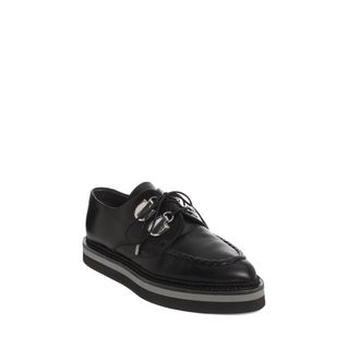 ALEXANDER MCQUEEN, Flats, Shine Calf Leather Double Layer Sole