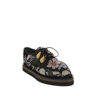 ALEXANDER MCQUEEN, Flats, Nappa Embroidered Double Layer Sole