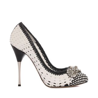 ALEXANDER MCQUEEN, Pump, Woven Leather Pump