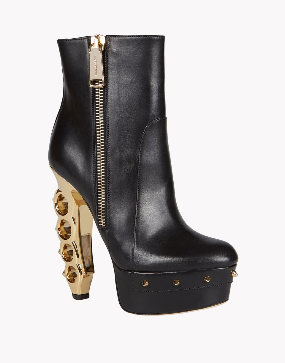 knuckle duster heel ankle boots shoes Woman Dsquared2