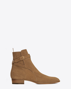 Hedi 30 Jodhpur Boot in Cigar Suede