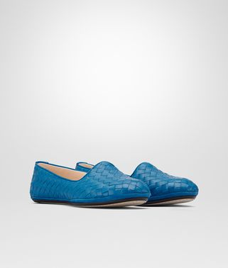 OUTDOOR SLIPPER IN BLUETTE INTRECCIATO NAPPA