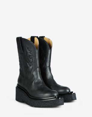 Platform western boot