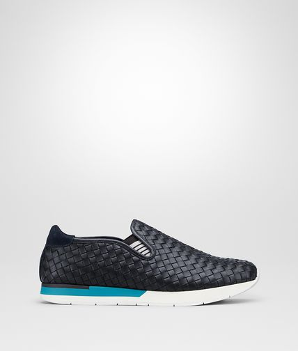 SNEAKER IN VITELLO INTRECCIATO DARK NAVY