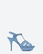 Classic TRIBUTE 75 Sandal in Light Blue Patent Leather