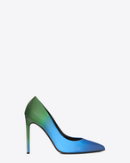 Classic PARIS SKINNY 105 ESCARPIN Pump in Blue and Green Dégradé Leather