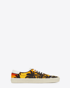 SKATE Lace-up Sneaker in Sunset Palm Printed Canvas