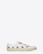 Signature COURT CLASSIC SL/06 Sneaker in White Prairie Flower Printed Leather
