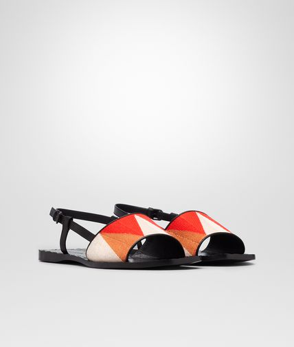 SANDALS IN VESUVIO PERSIMMON PETALE CALF