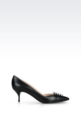 Armani Heeled pumps Women court shoe in napa leather
