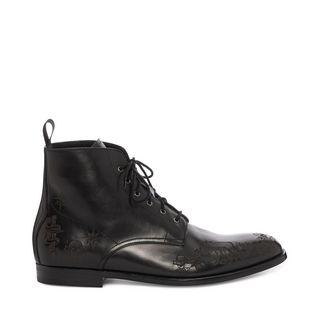 ALEXANDER MCQUEEN, Boots, Lasercut Tattoo Boot