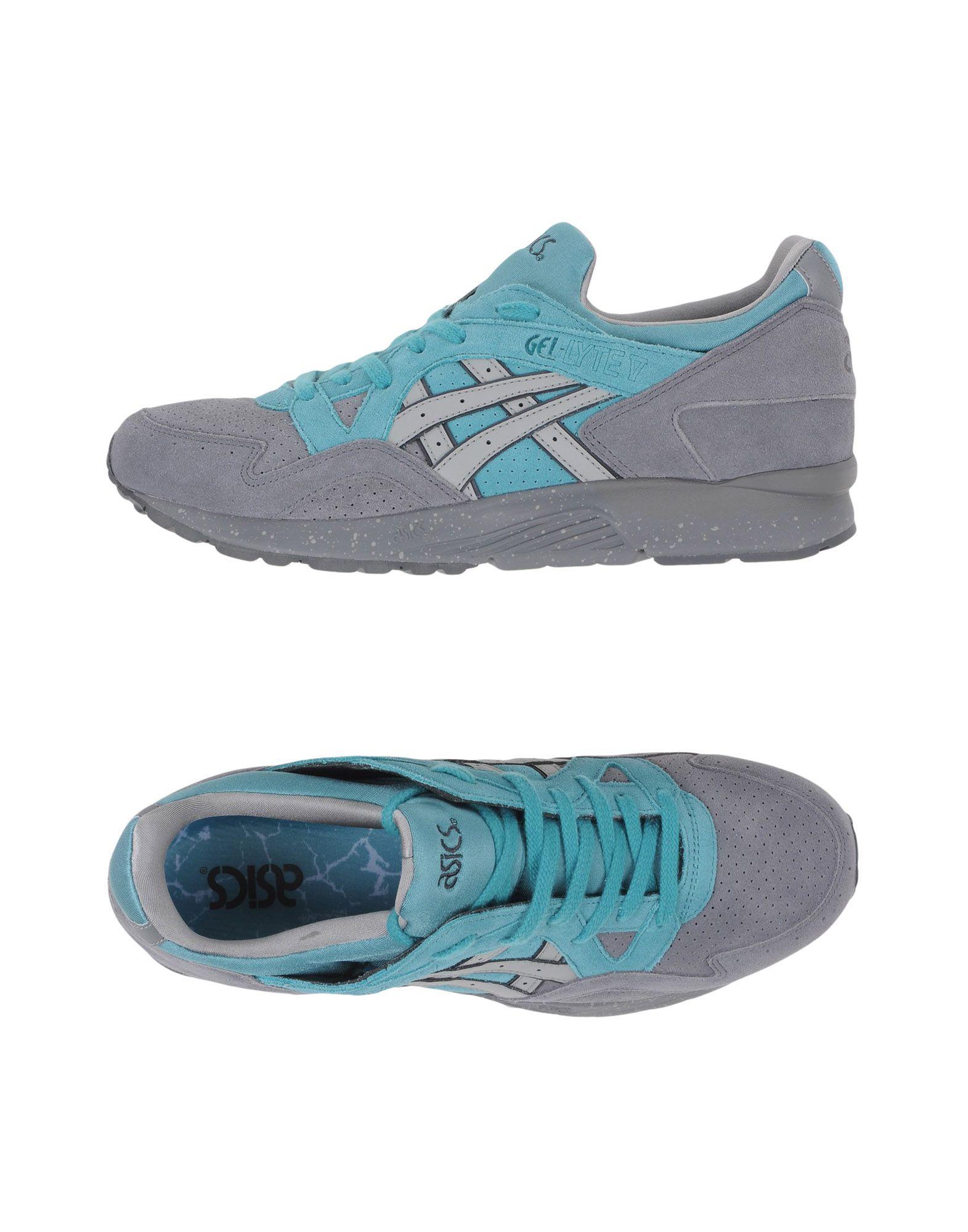 ASICS TIGER Herren Low Sneakers & Tennisschuhe Farbe Grau Größe 7