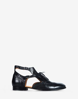 Cut-out lace-up oxfords