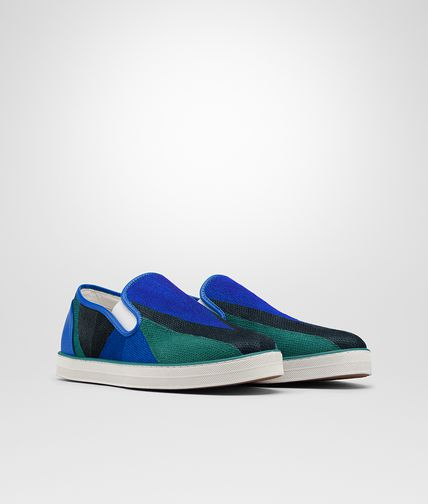SNEAKER IN CANARD BLUETTE DARK NAVY CALF