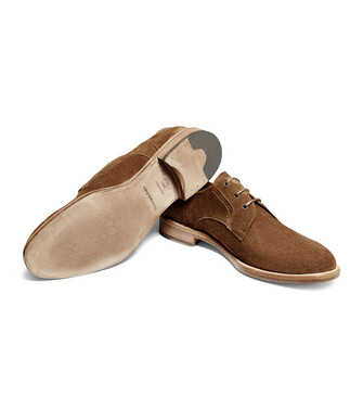 ERMENEGILDO ZEGNA: Laced Shoes Camel - 44955210VU