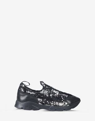 Laceless sequin sneakers